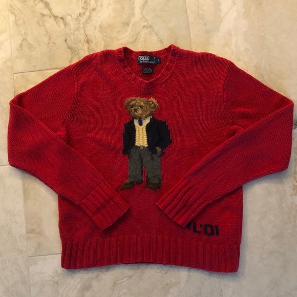 f944c9c0a Vintage Ralph Lauren Polo Bear Knit Sweater. M_5b353951c9bf5051bb203ef7